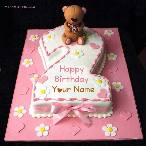 Create Name On Birthday Wishes 2nd Age Teddy Cake Pics