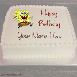 Kids Happy Birthday Wishes Funny Cartoon Cake With Name Pictures