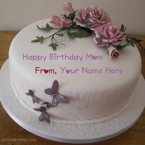Write Name On Birthday Cake For Specially Mother Wishes Pictures