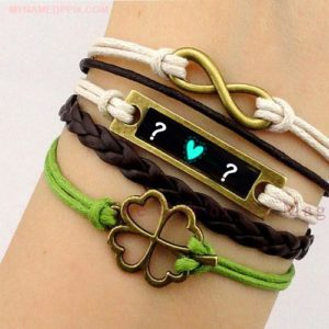 Online BF And GF Name First Letter Bracelet Profile Image