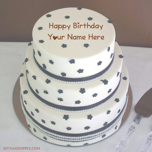 My Husband Name Birthday Wishes Layer Cake