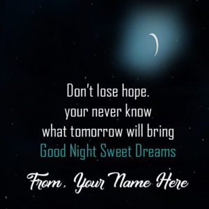 Specially Name Wishes Good Night Greeting Card Photo