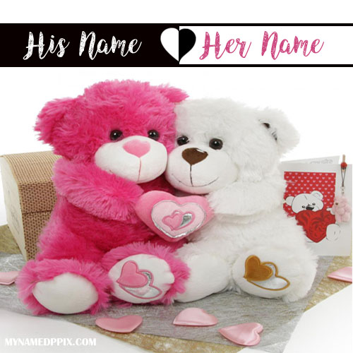 Write Bf And Gf Name Love Teddy S Image My Name Pix Cards