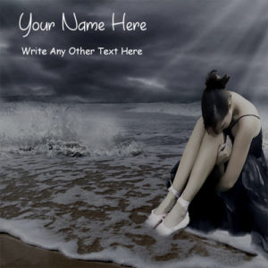 Write Name On Alone Sad Girl Pictures