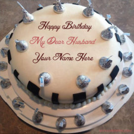 Write Name On Birthday Cake For Dear Husband Wishes