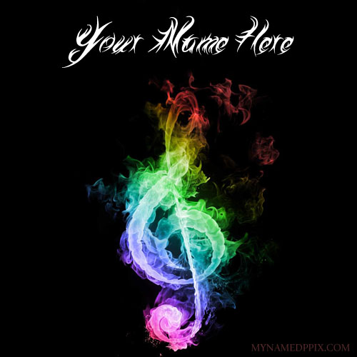 Write Name On Cool Music Logo Profile Pictures My Name Pix Cards