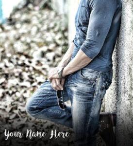 Write Name On Dashing Look Boy Profile Pictures