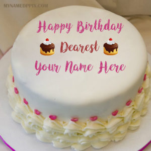 Write Name On Dear Birthday Wishes Cake Pictures