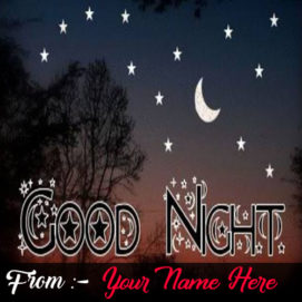 Write Name On Good Night Wishes Card Pictures