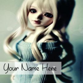 Write Name On Gorgeous Doll Beautiful Hair Profile Pics