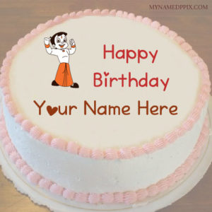 Write Name On Kids Birthday Wishes Chhota Bheem Cake