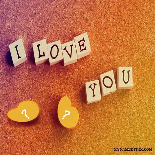 BF And GF Alphabet Name Love Wood Heart Blocks Pics