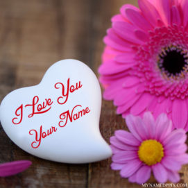 Beautiful Heart In Lover Name I Love U Image