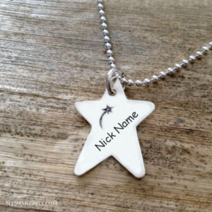 Beautiful Star Necklace With Name Image