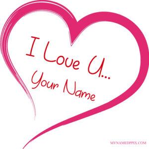 Create BF or GF Name I Love U Profile Image