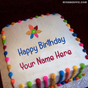 Design Birthday Cake With Name Image