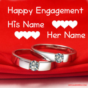 Happy Engagement Wishes Love Card With Name