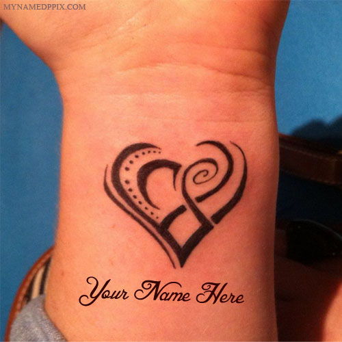 Heart Tattoo In Hand With Name Set DP