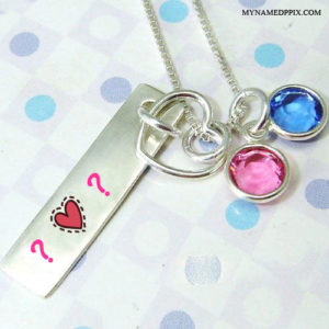 Necklace Bar On Lover Name Letter Image