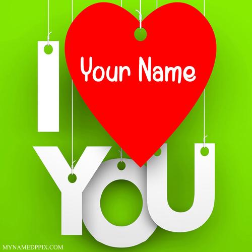 print his or her name love u profile image  my name pix cards