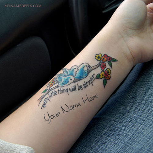 Print Name On Birds Tattoo Profile DP