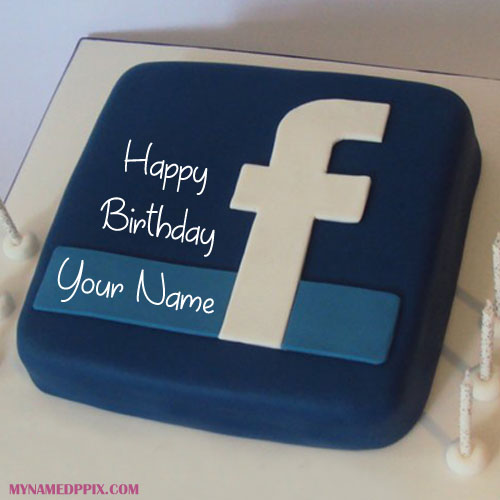 Social Media FB Birthday Cake With Name Wishes