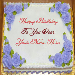 Special Dears Name Birthday Cake Image