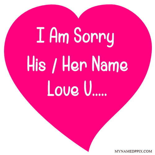Specially sorry love card with name image m4hsunfo