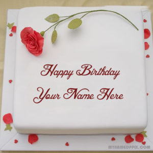 Write Lover Name Rose Birthday Cake DP