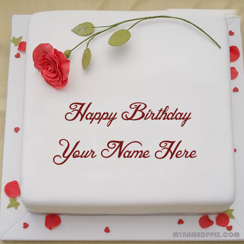 Write Lover Name Rose Birthday Cake DP