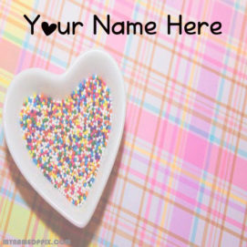 Write Name On Cute Love Image Profile