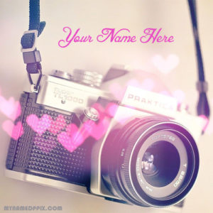 Write Name On Cute Selfie Camera Image