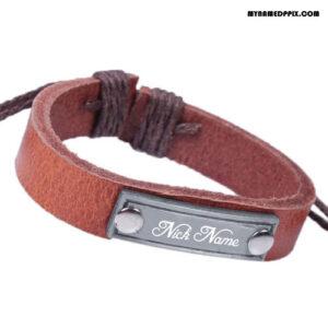 Write Name On Hand Bracelet For Men Profile