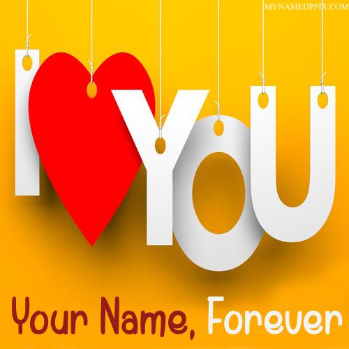 Write Name On Love U Forever Image