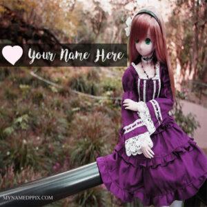 Write Name On Princess Doll Profile Image