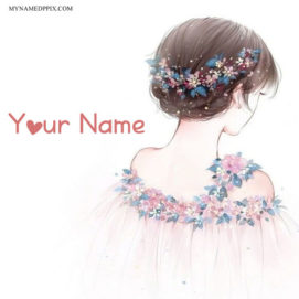 Write Name On Princess Drawing Girl Image