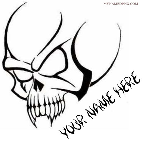 Write Name On Skull Design Tattoo Profile Image