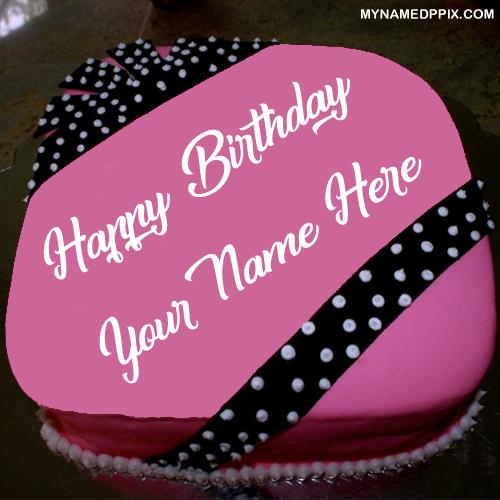 Beautiful Sweet Birthday Cake With Name DP Image Edit