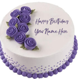Birthday Wishes Flowers Cake Name Printed Pictures