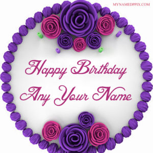 Flowers Design Birthday Cake Wishes Profile Set Pictures