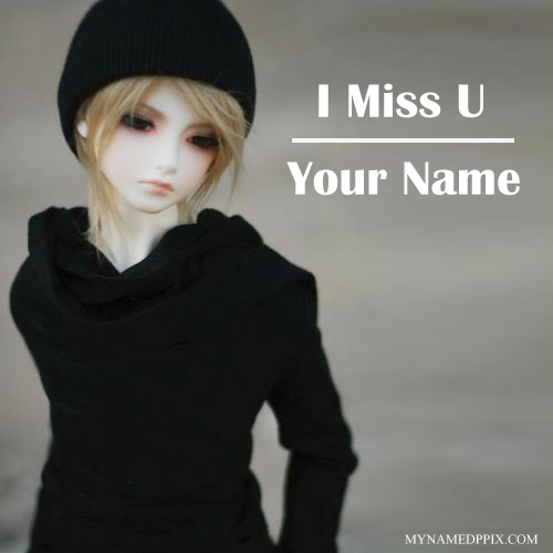 Name Printed Miss U Beautiful Doll Pictures Editing