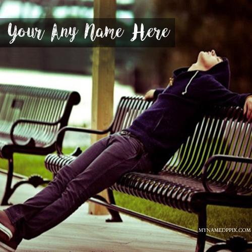 Sad Boy Alone Quotes: New Sad Boy Bench Name Writing Profile Image Create