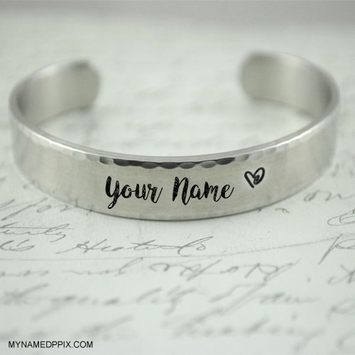 Print Name On Stylish Bracelet Pictures Set Profile