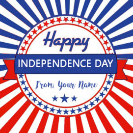 USA Happy Independence Day Wishes Name Image