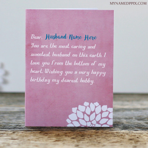 Birthday Cards With Name And Photo Editor Write Husband Greeting Wish Card Image
