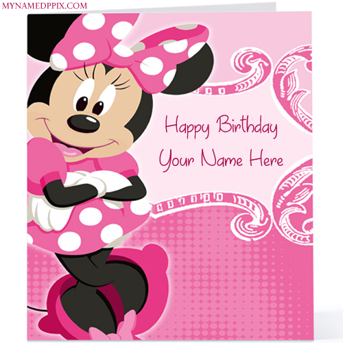 Write Kids Birthday Wishes Cartoon Birthday Wish Card Image