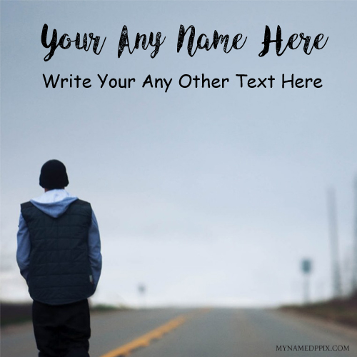 Sad Boy Alone Quotes: Write Name Alone Boy Quotes Msg Profile Pictures Edit