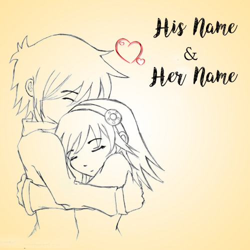 Write Name Drawing Love Couple Profile Set Pictures Edit