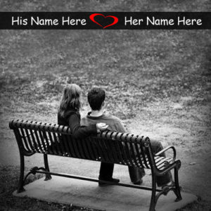 Write Name Love Couple Beach Romantic Profile Set Image