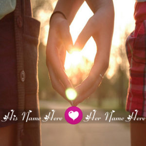 Write Name Love Couple Holding Hand Heart Look Pictures
